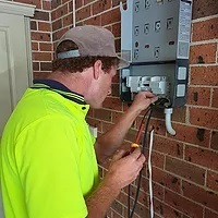 Our electrician Christopher Andersson